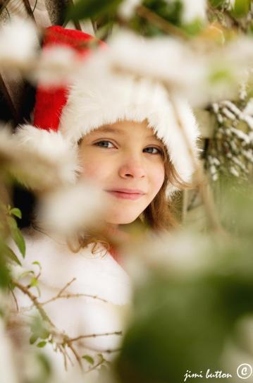 santa hat girl